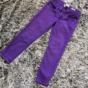 Madewell purple cropped jeans capris 26 small
